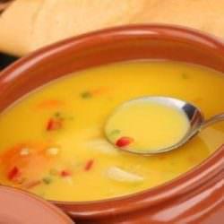 Суп-пюре из чечевицы и овощей