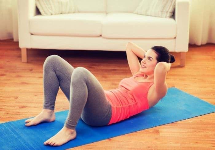 Упражнение для живота в домашних условиях