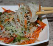 рисовая лапша с огурцами