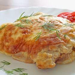 Мясо по-французски, приготовленное без растительных жиров