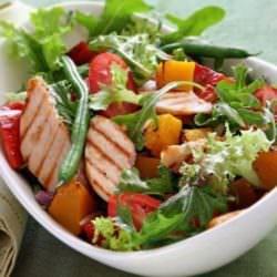 Простая идея для перекуса: салат с горбушей